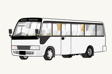 バス型霊柩車のイメージ図