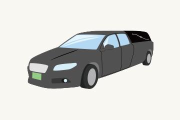 霊柩車のイメージ図